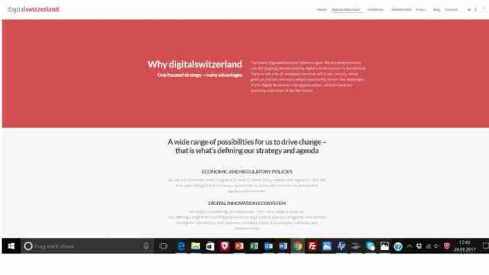 digitalswitzerland / Website und Posts / EN & DE