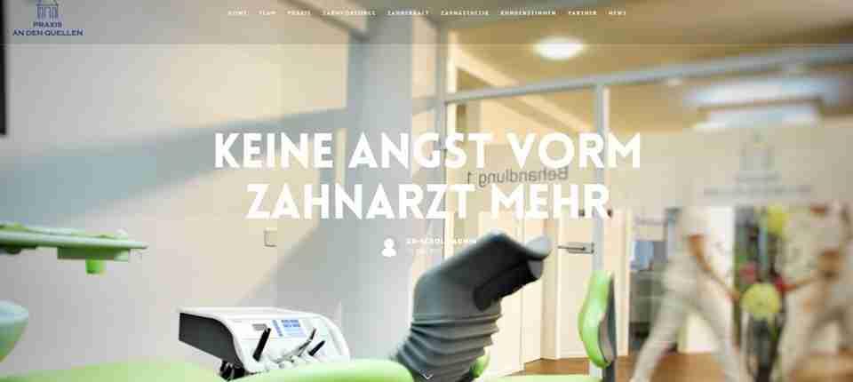 Praxis an den Quellen Wiesbaden | Relaunch mit Blog und Social Media Hub