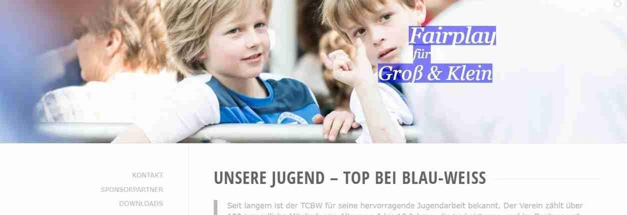 Webrelaunch Tennisclub Blau-Weiss Wiesbaden