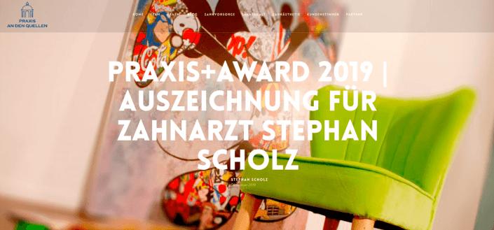 COMPETE trägt mit Online Kommunikation zur Verleihung des PRAXIS+AWARD an Zahnarzt Stephan Scholz bei